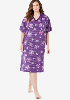 Print Sleepshirt by Dreams & Co.®, RICH VIOLET FLORAL SNOW