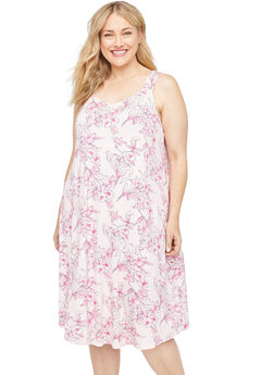 Hibiscus Bliss Sleep Gown, FLORAL MARYS ROSE