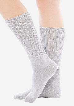 2-Pack Open Weave Extra Wide Socks by Comfort Choice®,