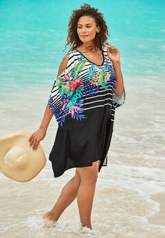 Cold-Shoulder Cover Up ,