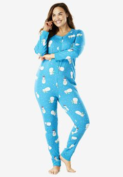 Holiday Print Onesie Pajama by Dreams & Co.®,