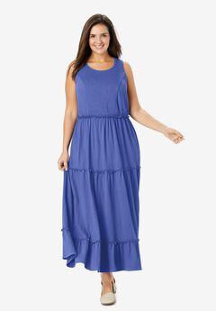 Knit Gauze Smocked Dress,