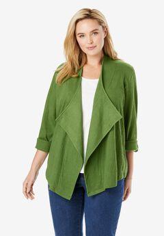 Open Front Knit Jacket,