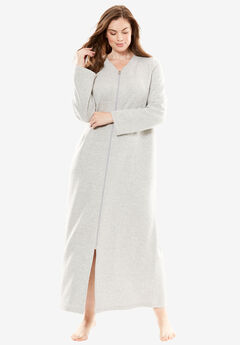 Quilted Fleece Long Bed Jacket by Only Necessities®,