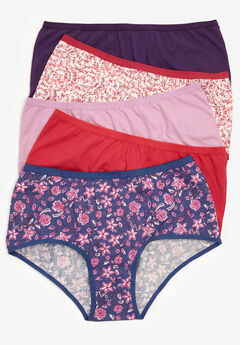 5-Pack Stretch Cotton Full-Cut Brief by Comfort Choice®,