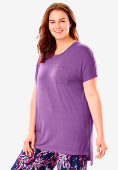 Sweet Dream Mixer Drape Tee by Dreams & Co.®, FRESH BERRY