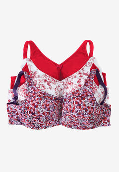3-Pack Cotton Everyday Wireless Bra by Comfort Choice®,