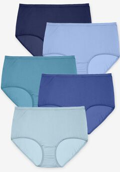 5-Pack Nylon Full-Cut Brief by Comfort Choice®, BLUE MULTI PACK