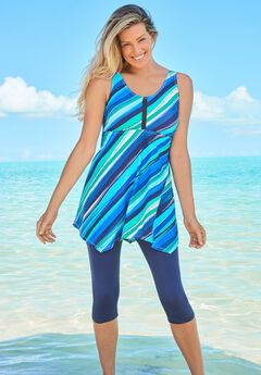 Longer-Length Tankini Top,
