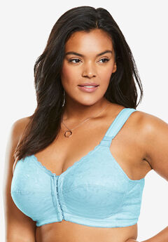 Lace Wireless Posture Bra by Comfort Choice®, POWDER TURQ