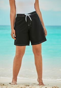 Contrast-Trim Long Boardshort by Swim 365,