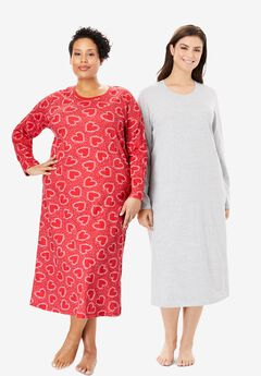 Long-Sleeve Sleepshirt 2-Pack by Dreams & Co.®,