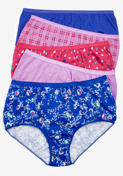 5-Pack Pure Cotton Full-Cut Brief by Comfort Choice®,