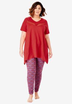 Lace Tunic & Legging PJ Set by Dreams & Co.®,