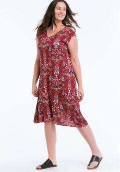 Paisley T-Shirt Dress by ellos®,