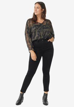 Skinny Corduroy Pants, BLACK
