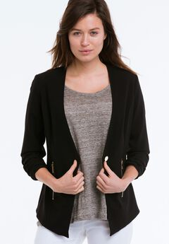 Zip Pocket Blazer by ellos®,