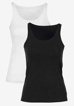 2-Pack Ribbed Knit Tank Top by ellos®,
