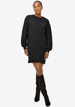 Blouson Sleeve Sweatshirt Tunic Dress,