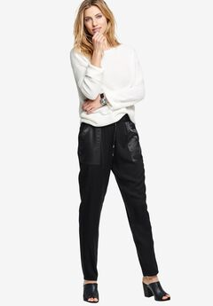 Satin Trim Soft Pants by ellos®,