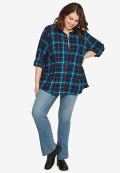 Plaid Flannel Shirt by ellos®,