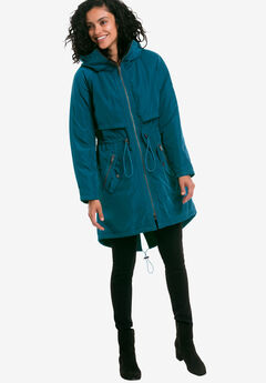 Hooded Zip Front Anorak by ellos®,