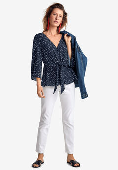 Tie-Front Blouse by ellos®,