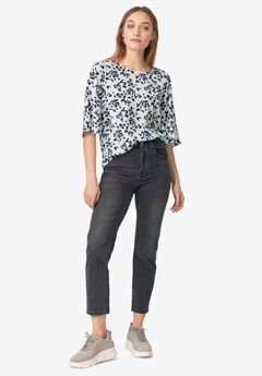 Relaxed Wide Sleeve Blouse,