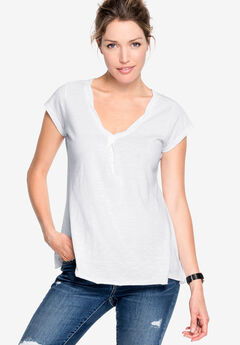 Twisted V-neck Tee by ellos®,