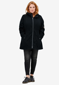 Embroidered Twill Anorak Jacket by ellos®, BLACK