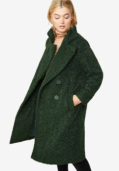Double-Breasted Teddy Coat,