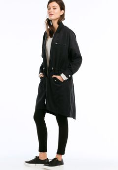 Ribbed Collar Anorak Jacket by ellos®,