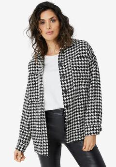 Houndstooth Shirt Jacket,