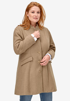 Fit & Flare Wool Coat by ellos®,