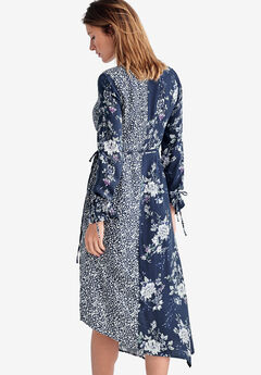 23ab4d470ca Mixed-Print Wrap Dress by ellos®
