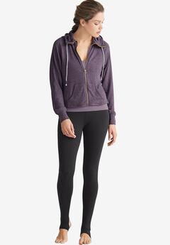 Zip-Front Marled Sweatshirt by ellos®,