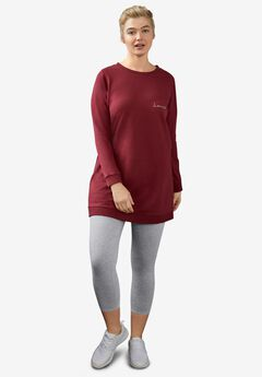 Pull-On Capri Leggings by ellos®, HEATHER GREY
