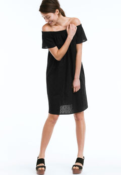 Eyelet Dress by ellos®, BLACK