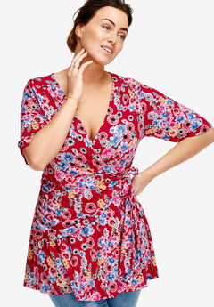 Printed Wrap Tunic by ellos®,