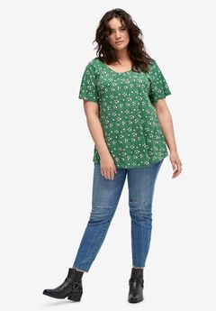 Shirred Scoop Neck Tunic by ellos®,