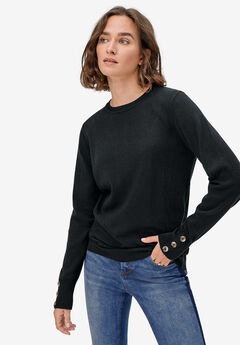 Button-Cuff Pullover by ellos®,