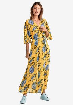 bf8ea7ce9c8 Tie-Front Floral Wrap Dress by ellos®