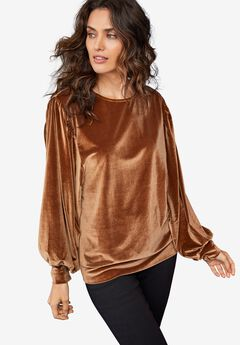Full Sleeve Velour Top by ellos®,