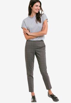 Slim Back Elastic Cropped Pants by ellos®,