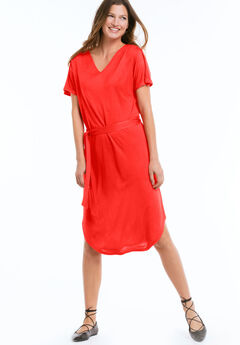 Tie-Waist Knit Dress by ellos®,