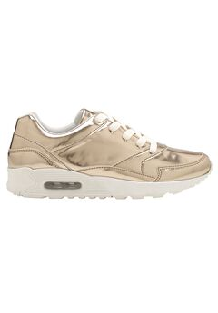 Metallic Lace-Up Sneakers by ellos®,