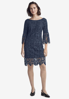 Bell Sleeve Lace Dress by ellos®,