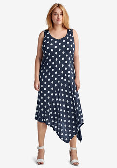 Hanky Hem A-Line Dress by ellos®,