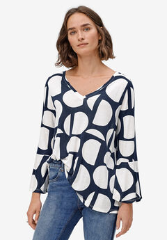 Bell Sleeve A-Line Knit Tunic,