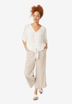 Gingham Crop Pants by ellos®,